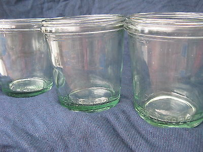 3 Fowlers Vacola #28 Jars For Puddings  No Lids/rings Clips Hard To Find Mint