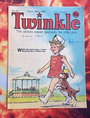 Twinkle  Comic No.657. 23 Aug 1980. Fn+/vfn. With Dress Twinkle Page