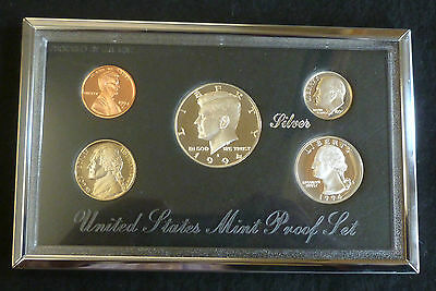 USA Premier Silver Proof 5-Coin Set 1994 Boxed With COA