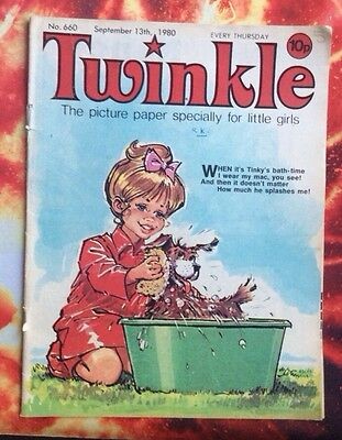 Twinkle  Comic No. 660. 13 September 1980. Vg. With Dress Twinkle Page