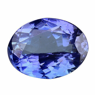 1.235Cts Top Luster Blue Natural Tanzanite Oval Loose Gemstones
