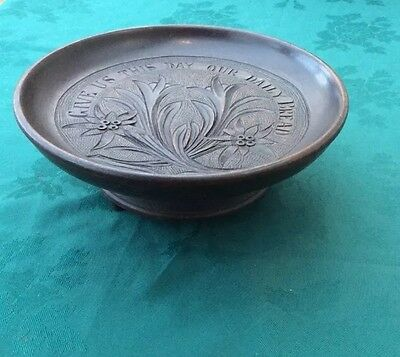 Antique Carved Give Us This Day Our Daily Bread Table Centre Piece