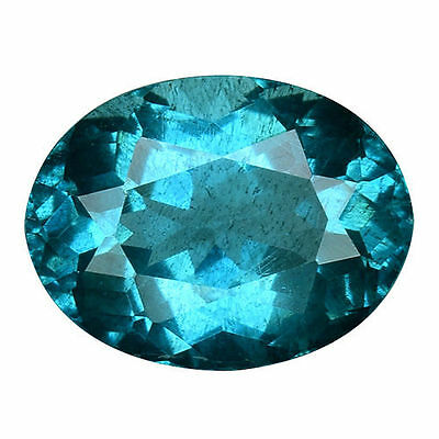 1.290Cts Massive Top Blue Green Natural Apatite Oval Loose Gemstones
