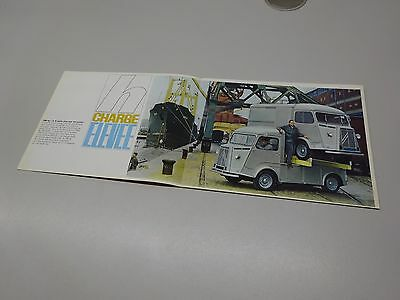 COLLECTABLE CITROËN H / HZ & HY RANGE BROCHURE, in FRENCH. 1964 ?