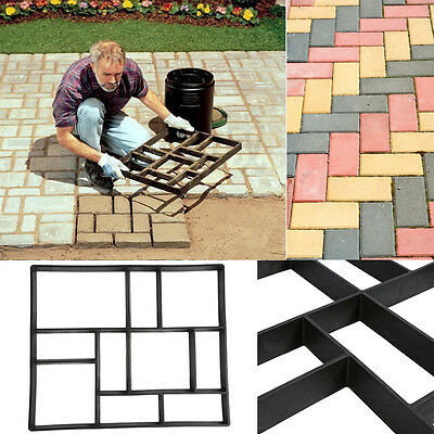 DIY Grid Driveway Paving Mould Brick Patio Concrete Slabs Path Garden Walk Yard