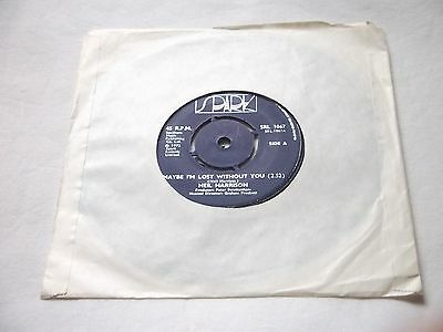 """Neil Harrison """" Maybe I'm Lost Without You """" Very Rare Spark 7"""" Single NM"""