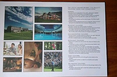 £50 Voucher For The CELTIC MANOR RESORT in newport( SOUTH WALES)