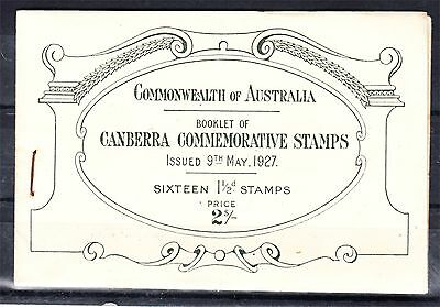 1927 2/- Canberra Booklet Mint Unhinged And Complete (A32)