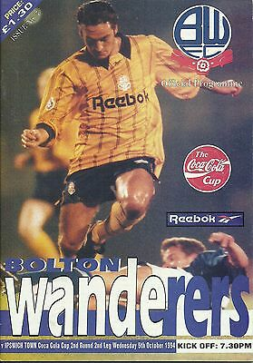 Bolton Wanderers V Ipswich Town 5/10/1994 League Cup 2Nd Round 2Nd Leg  (5)