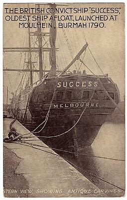 British Convict Ship Success Oldest Ship Afloat Dry Dock View