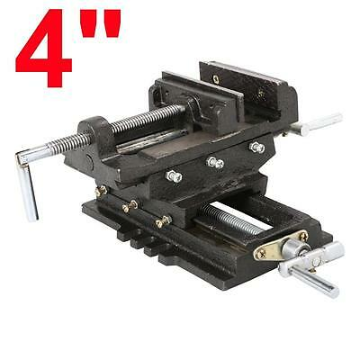 "Cross Slide Vise 4"" Drill Press 2 Way X - Y Adjustable Clamp Heavy Duty Milling"