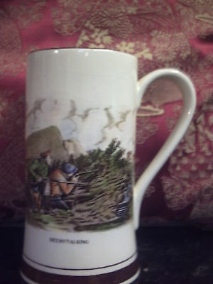 Gray's Pottery Tankard Deerstalking D1470 Scotland Country Sports