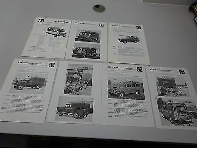 CONTRAFEU GESER 4 x 4, LAND- / RANGE ROVER & CHEVY LEAFLETS, in GERMAN. 80s ?