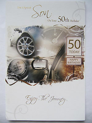 50 Today Driving Related Wonderful Son On Your 50Th Birthday Greeting Card