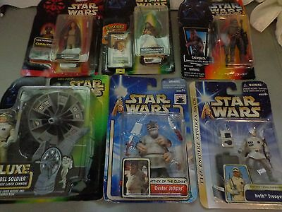 STARS WARS - Mixed Lot of 6 - POTF AOTC ADI GALLIA CHEWY-RED DEXTER HOTH SOLDIER