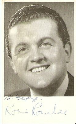 RONNIE RONALDE (1923-2015) British Music Hall Performer  Signed pic
