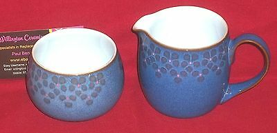 Denby MIDNIGHT Milk Jug and Sugar Bowl