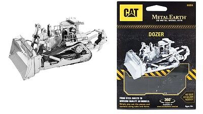 Planierraupe Dozer CAT 3D-Metall-Bausatz Silver-Edition Metal Earth 1425