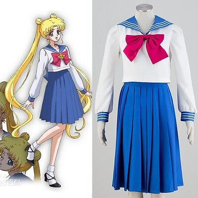 Sailor Moon Usagi Marinaretta Costume Completo Carnevale Cosplay Uniforme Scuola