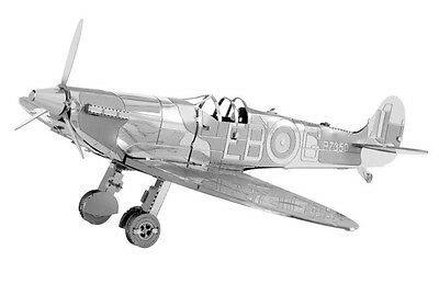 Supermarine Spitfire 3D-Metall-Bausatz Silver-Edition Metal Earth 1110