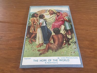 Vintage Harold Copping The Hope of the World - Jesus & Children Stand Up Picture