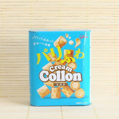 Japan Glico COLLON MILK Cream White Fluffy Filled Cookie Japanese Candy