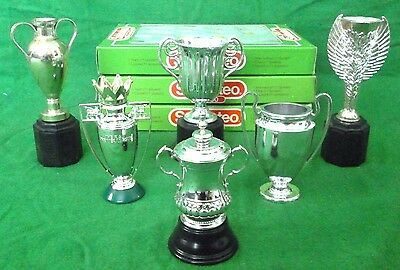 Subbuteo Cups X 6 European,  Euro Comp, World Cup & F.a Cup, Pl Cup & 1 Other!!