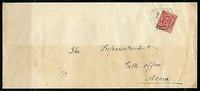 Gold Coast Letter Accra  Oct 3,1913 To  Gable Office Great  Cancels On  Reverse