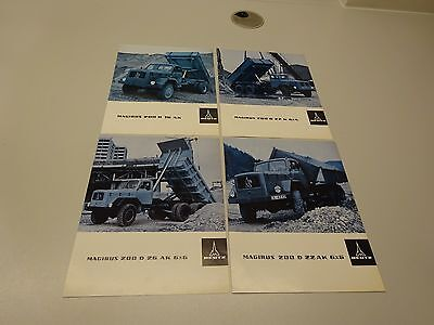 A SET OF FOUR (4) MAGIRUS DEUTZ 200 D TRUCK LEAFLETS, in ENGLISH. 1965 - '66.