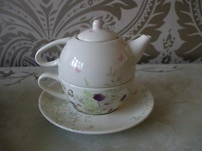M & S Edwardian Lady Tea for one Cups Saucer &Teapot