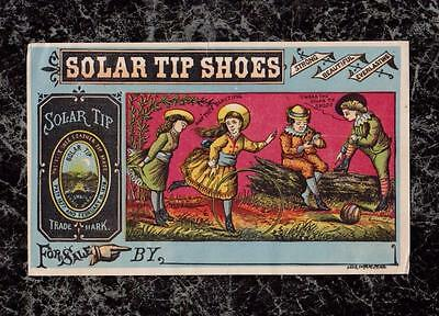#2 Children Playing Solar Tip Shoes Victorian Trade Card John Mundell & Co