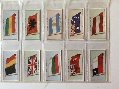 Players Flags of the League of Nations Full Set (50) 1928
