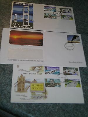 3 First Day Covers   British Bridges 1968