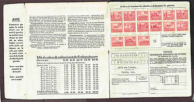 Canada War Savings Revenue In Collection Booklet (Ast3