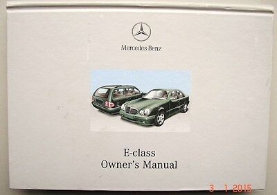 MERCEDES BENZ E CLASS  1997-2002  Owners Manual