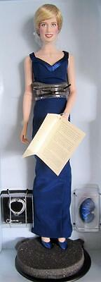 Large Princess Diana Doll Franklin Mint Royal Commemorative Lady Di
