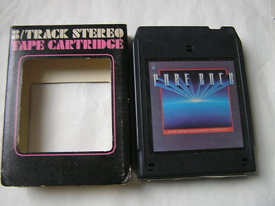 K-Tel 8-Track Pure Rock Boston/ZZ Top/Foghat/Journey/Foreigner/Styx/Ted Nugent