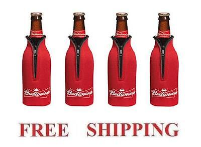 Budweiser 4 Bud Bottle Cooler Coozie Coolie Koozie Hugie New