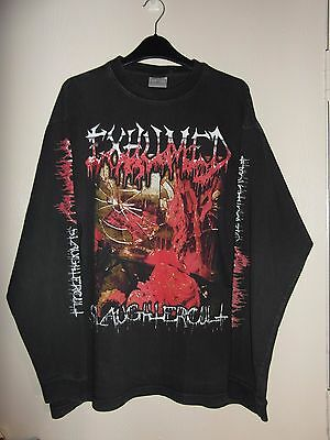 Exhumed - Slaughtercult , Vintage  Long Sleeve Tee Shirt Size Xl