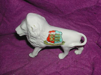Crested China Walking Lion. Cinque Port Liberty Of Brightlingsea.