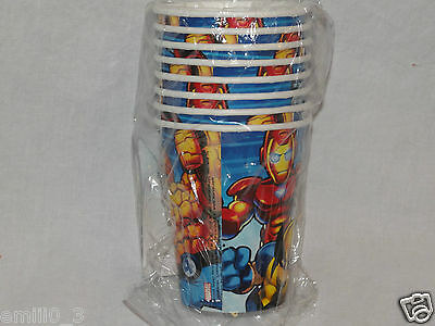 New Marvel Super Hero Squad Paper Cups  Party Supplies