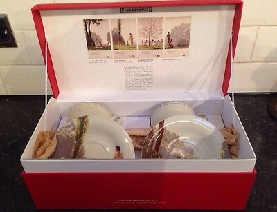 NEW BOXED LONDON UNDERGROUND Come On Wings Of Joy 1931 TEA CUPS & SAUCERS SET