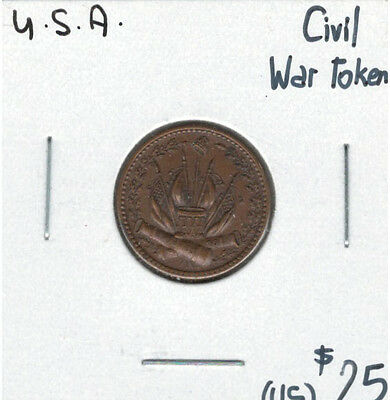United States USA Civil War Our Country Token