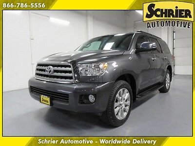 2013 Toyota Sequoia Limited Sport Utility 4-Door 13 Toyota Sequoia Gray 4WD Sunroof Bluetooth 8 Passenger JBL Audio Leather