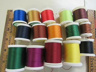 15 Spools Of Assorted Fishing Rod  Building Winding Thread