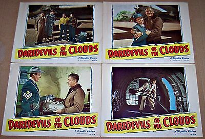 Daredevils Of The Clouds (1948) Robert Livingston Rcmp Lot Of 4 Orig Lobby Cards