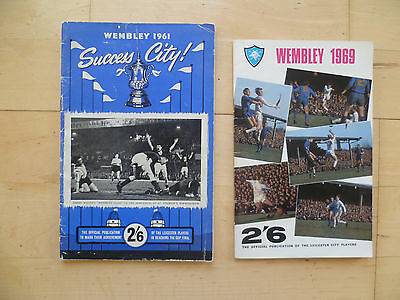 1961 & 1969 Leicester City Official Cup Final Brochures