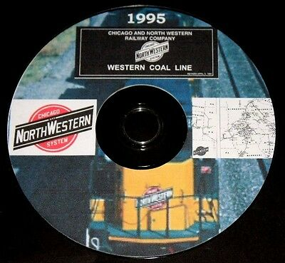 Chicago & Northwestern RR 1995 Western Coal Line Track Chart PDF Pages on DVD