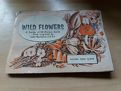 wild  flowers     brooke bond   picture  cards   album  complete