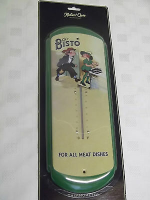 Super Retro Tin Plate BISTO Large Wall Thermometer BNIP - For All Meat Dishes